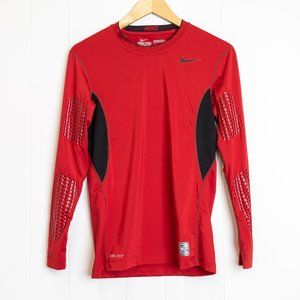 Nike Pro Combat Red and Black Compression Shirt, Medium